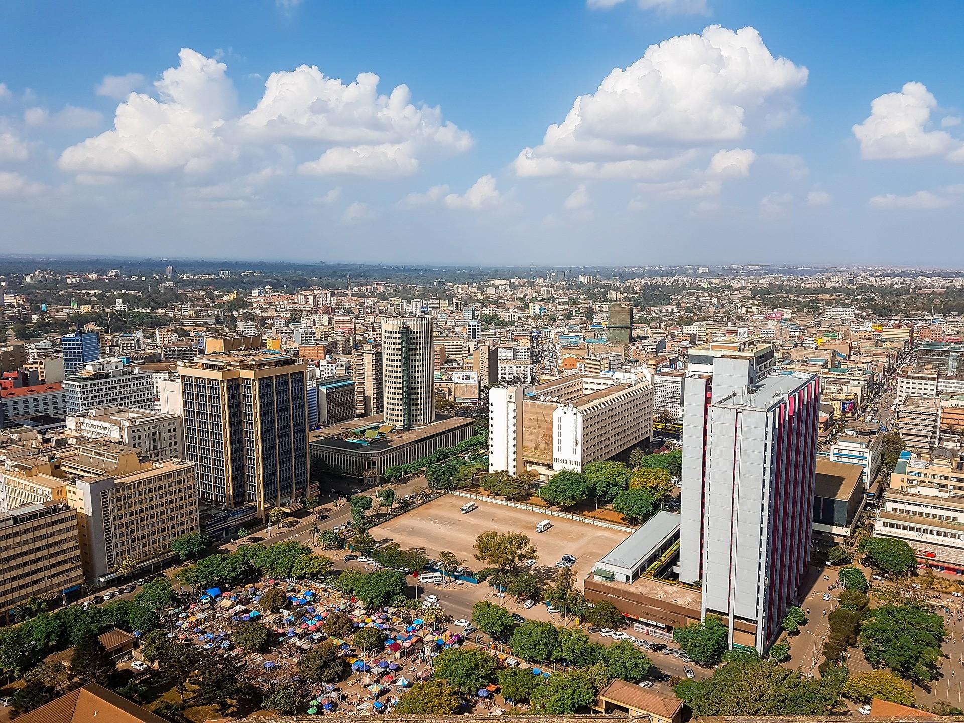 vistas aéreas de nairobi, kenia