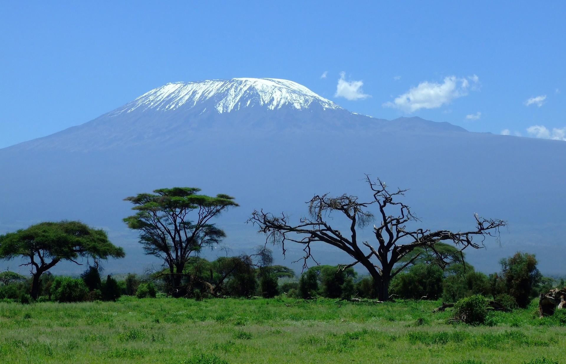 vistas del monte kilimanjaro desde amboseli, kenia