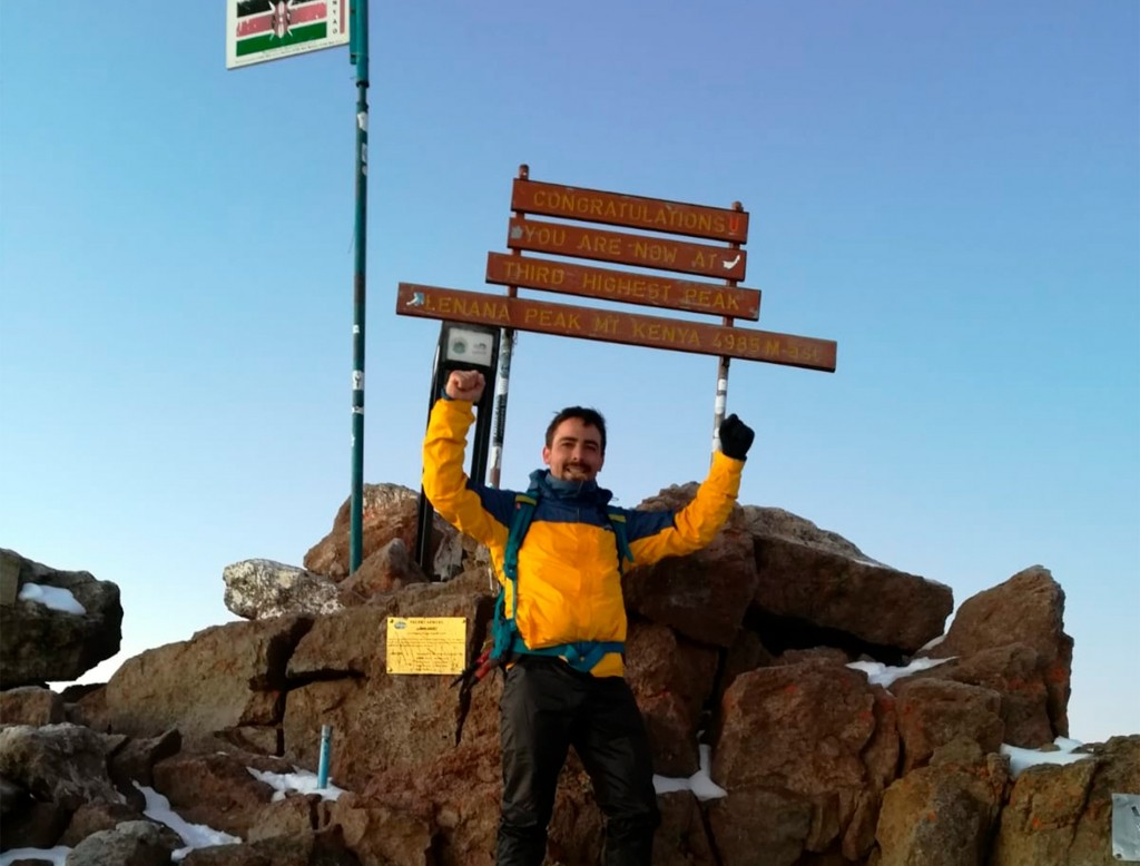 Cumbre en el Mount Kenya