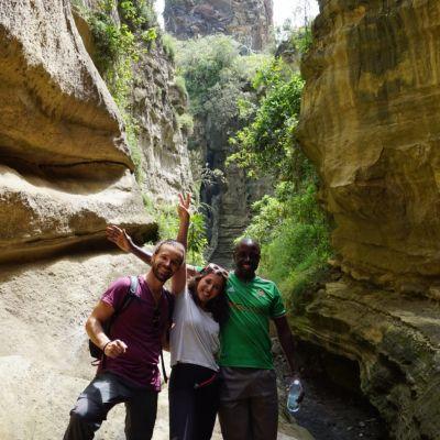 josep y ada en hells gate national park, kenia