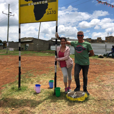 línea del ecuador, nanyuki, kenia